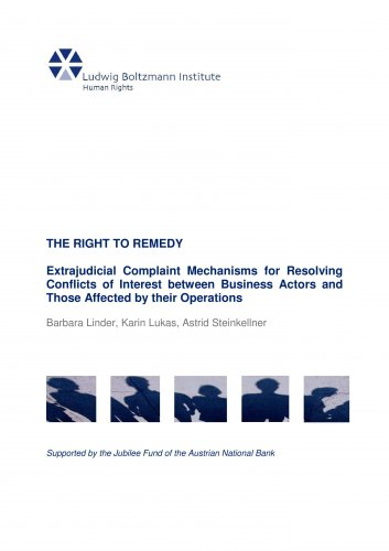 Cover of final report: The Right to Remedy