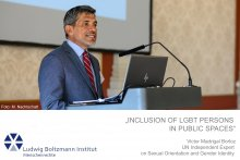 Audio: Inclusion of LGBT Persons in Public Spaces, Victor Madrigal Borloz