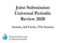 Joint Submission Universal Periodic Review 2020