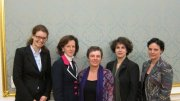 Participants of the Public Lecture f.l.t.r.: Julia Planitzer, Ambassador Tichy-Fisslberger, Evelyn Probst, Barbara Steiner, Gertraud Eppich.