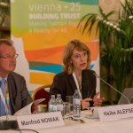 """Manfred Nowak and Heike Alefsen, Chair and Rapporteur of Working Group 2 """"Promotion of Equality in our Societies"""""""