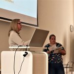Sabine Gasser and Bernadette Schmidl inform about the importance of client-centred communication.