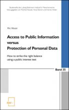 Band 35 I 2018: Access to Public Information versus Protection of Personal Data