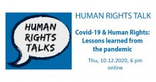 HUMAN RIGHTS TALK: Covid-19 & Human Rights – Lessons learned from the pandemic