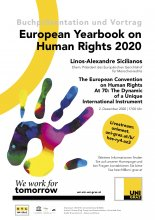 European Yearbook on Human Rights 2020 (book presentation and lecture)