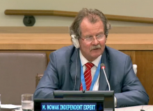 Manfred Nowak at the UN General Assembly